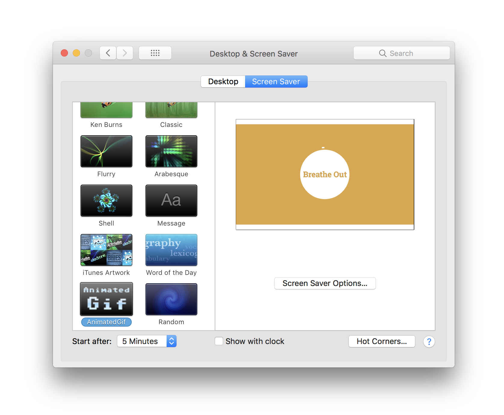 How to install Gifs as your screensaver