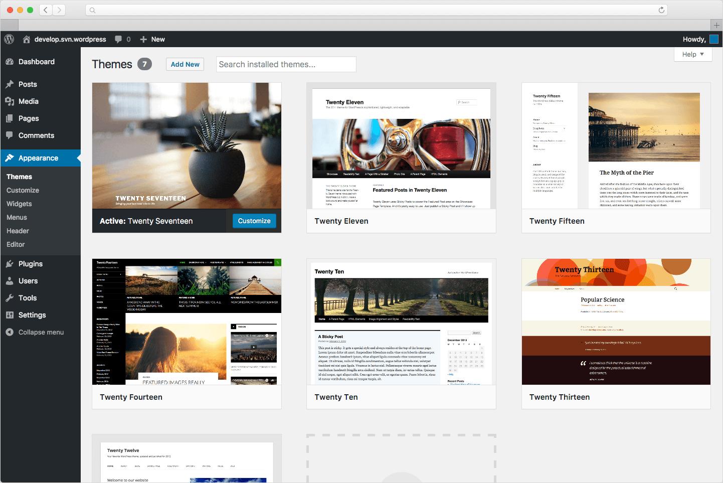 Hailey Erickson CMS Example by Wordpress